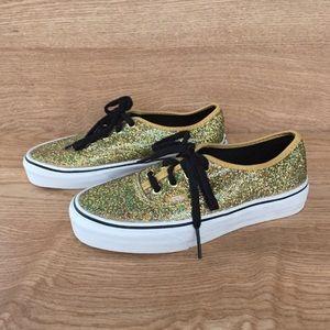 Gold Glittery Vans